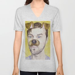 Misha Collins, watercolor painting Unisex V-Neck