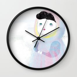 Miss Winter Wall Clock