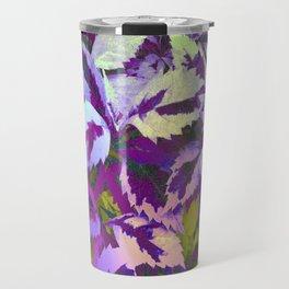 More Lovely Leaves, Purple Shades Travel Mug