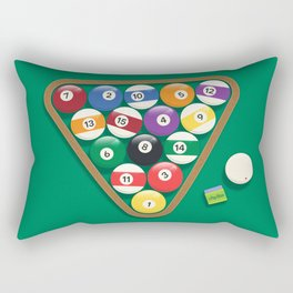 Billiard Balls Rack - Boules de billard Rectangular Pillow