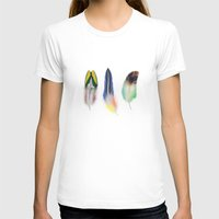 feathers T-shirts featuring feathers  by mark ashkenazi