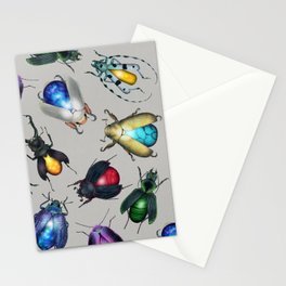 Colorful Mineral Beetles Stationery Cards