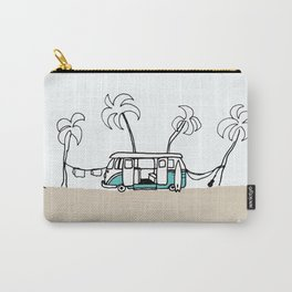 Surfer Van - Surf Art - Gone Surfing Carry-All Pouch