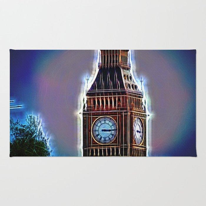 Iluminated Big Ben Rug