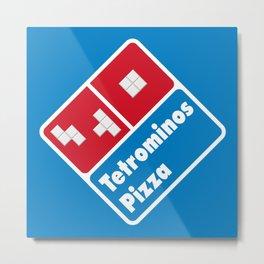 Tetrominos Pizza Metal Print