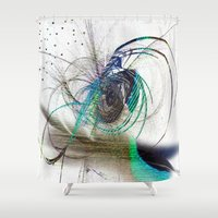 emerald Shower Curtains featuring Emerald by haroulita