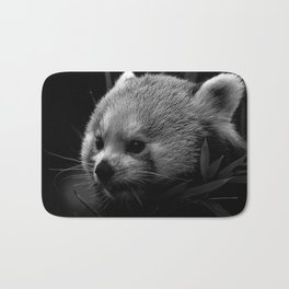 Awesome B&W red Panda Bath Mat