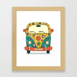 Hippie Bus Framed Art Print