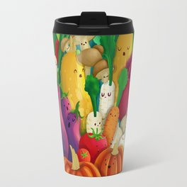 Nice People Eat Vegetables - background (Made with Danny Ivan) Travel Mug