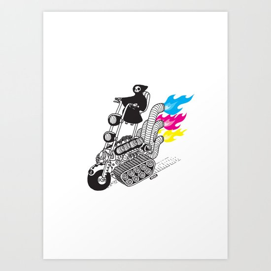 Grim Hellraiser Art Print