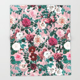 Summer Botanical Garden X Throw Blanket