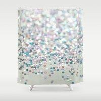 glitter Shower Curtains featuring GliTTER by Monika Strigel