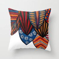 surf Throw Pillows featuring Surf by kartalpaf