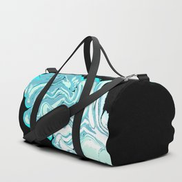 Ripples on a Black Background Duffle Bag