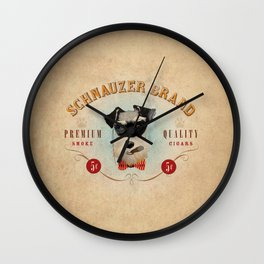 Schnauzer Brand Cigars Wall Clock