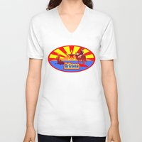 arizona V-neck T-shirts featuring Arizona by Anfelmo