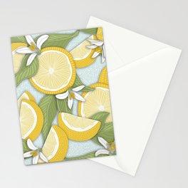 Lemons Pattern 01 Stationery Cards