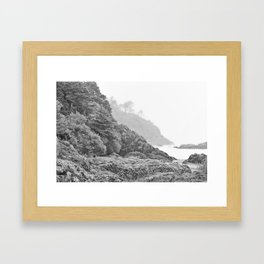 Washington Coast Mist Fog Shoreline Beach Pacific Ocean Long Beach Beards Hollow Forest Northwest Framed Art Print