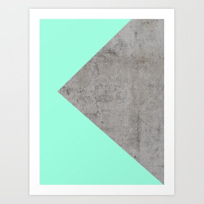 Sea Collage on Concrete Art Print by cafelab