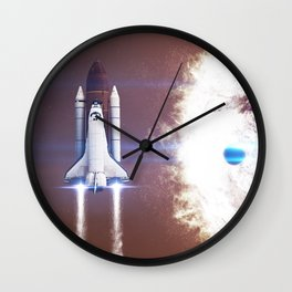 Burning Wall Clock