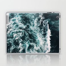 turquoise and white Laptop & iPad Skin