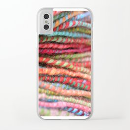 Handspun Yarn Color Pattern by robayre Clear iPhone Case