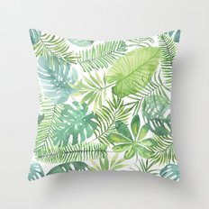 Tropical Branches Pattern 07 Throw Pillow