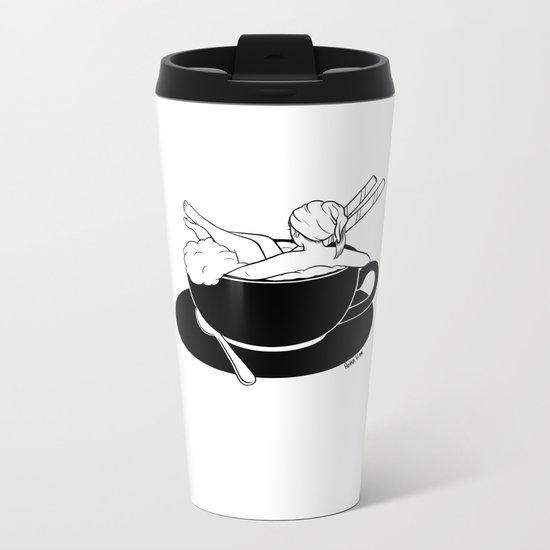 Cappuccino Bath Metal Travel Mug