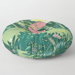 Spring in the jungle Floor Pillow