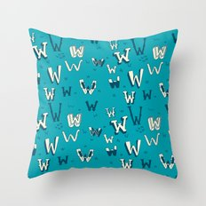 Letter Patterns, Part W Throw Pillow