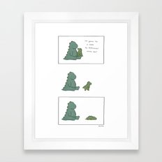 Snake Monster Framed Art Print