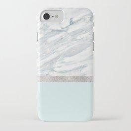 Calacatta verde - silver turquoise iPhone Case