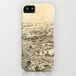 Vintage Pictorial Map of Longwood Florida (1885) iPhone Case