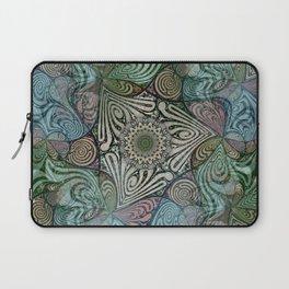 Labyrinth Mandala Blue Green Grey Laptop Sleeve