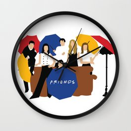 Friends Umbrella Wall Clock