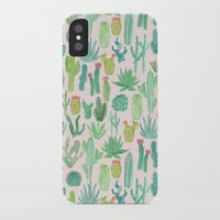 cactus iPhone & iPod Cases featuring Cactus by Abby Galloway