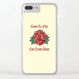 Como La Flor Clear iPhone Case