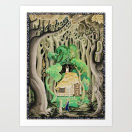 1925 Classical Masterpiece 'Hansel and Gretel by Brothers Grimm' by Kay Nielsen Art Print