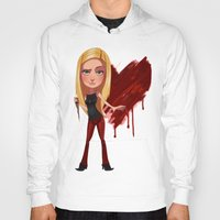 buffy Hoodies featuring Buffy the Heart Slayer by Isaiah K. Stephens