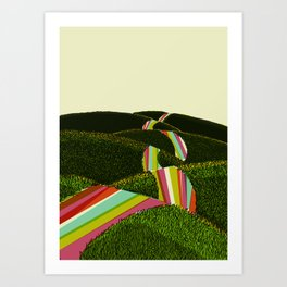 Happy Road Art Print