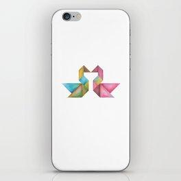 Tangram Swans iPhone Skin
