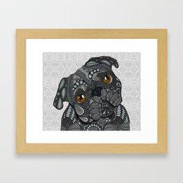Black Pug 2016 Framed Art Print