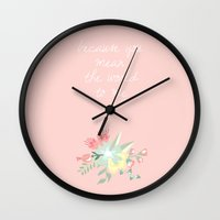 because cats Wall Clocks featuring Because  by SpekleDesign