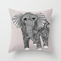 ellie goulding Throw Pillows featuring Ellie by lush tart