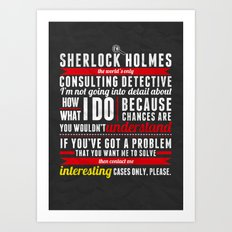 Interesting Cases Only Art Print