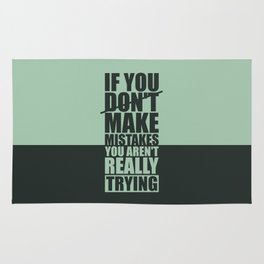 Lab No. 4 - If You Do Not Make Mistakes Gym Motivational, Inspirational Quotes Poster Rug