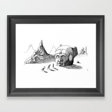 Arrival at the Ruins Framed Art Print