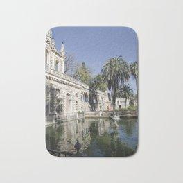 Royal Gardens Reflection - Alcazar of Seville Bath Mat