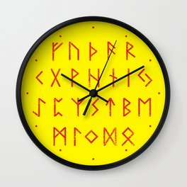 Elder Futhark Wall Clock