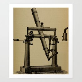 Astronomy for High Schools and Colleges (1881) - Fig. 29 - Portable Transit Instrument Art Print